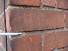 Example of cement repointing