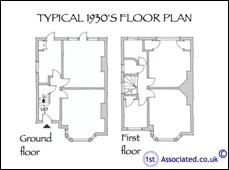 1stassociated independent surveyors advice on damp and for 1950s council house floor plan