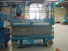 Small scissor lift close up