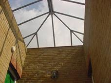 Glass atrium roof