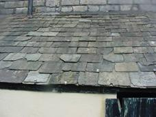 Stone roof in state of disrepair