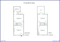 Victorian terraced house floor plans House interior