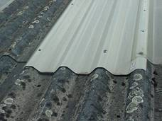 metal sheets replacing asbestos